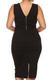 Plus Size Glamorous Midi Black Dress