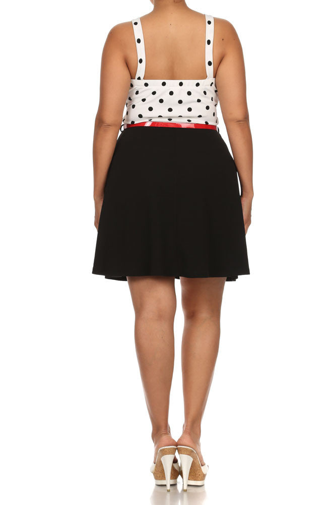 Plus Size Steal The Spotlight Belted Skater Dress
