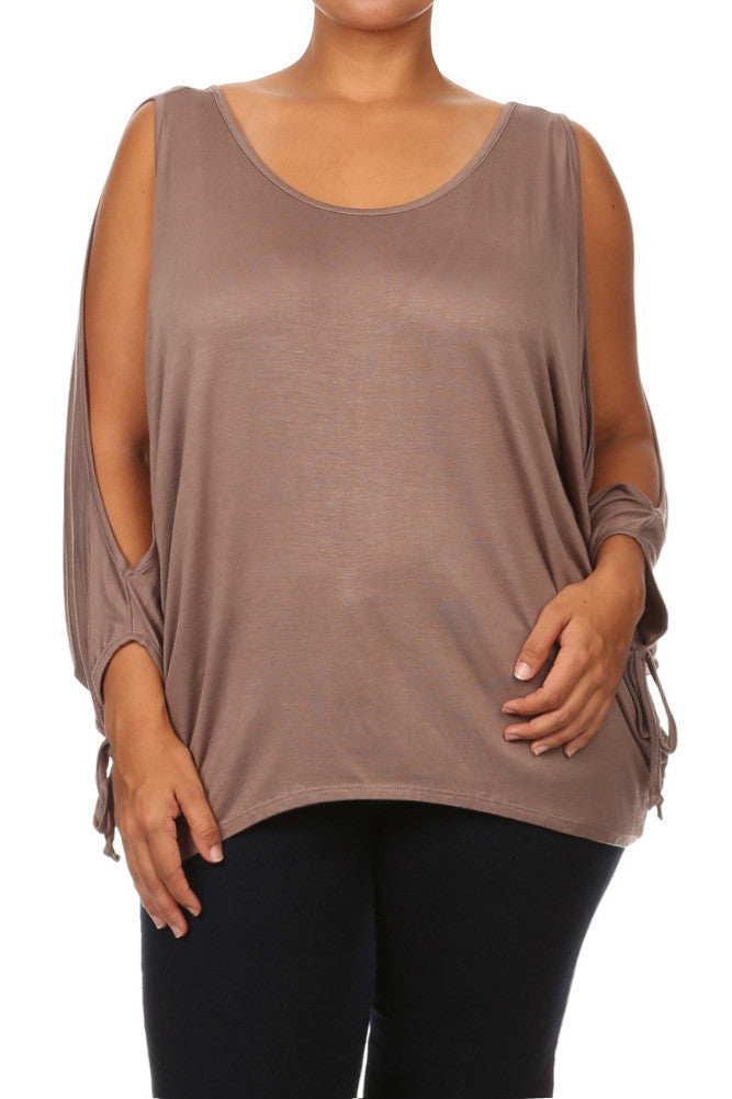 Plus Size Sexy Boxy Dolman Sleeves Top