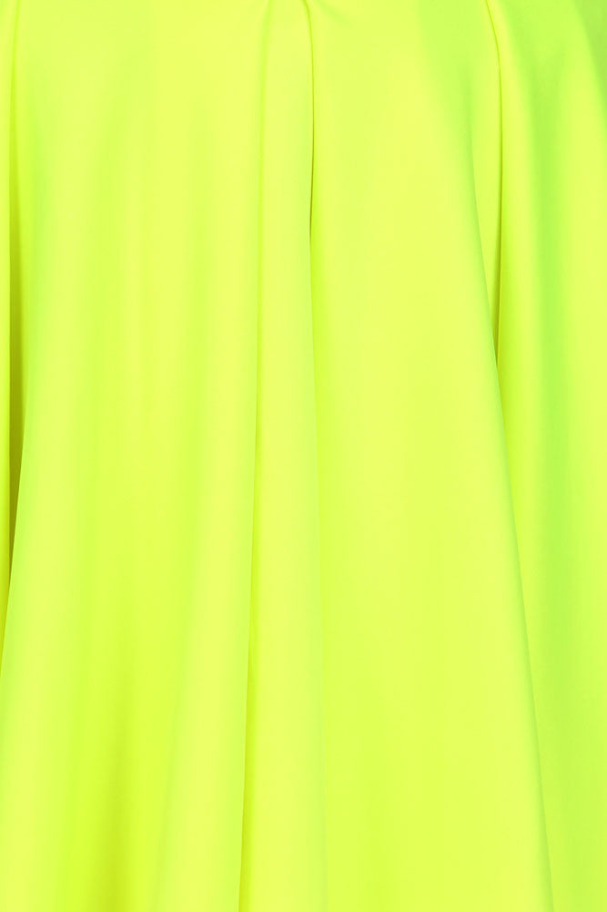 Plus Size Flirty Neon Yellow Skater Skirt