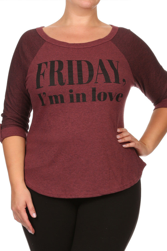 Plus Size Chic Friday I'm In Love Top
