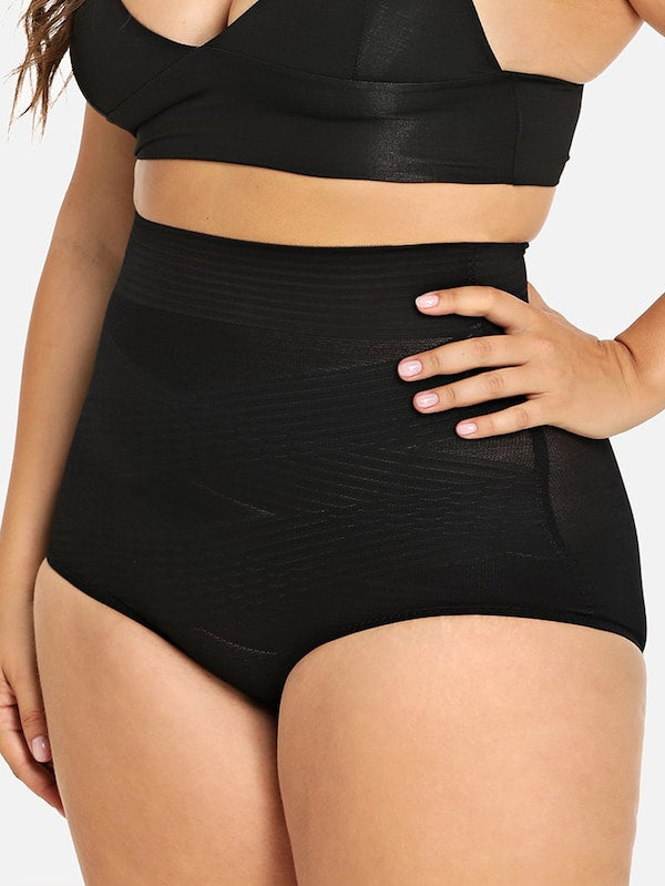 Plus Size High Waist Shapewear Panty