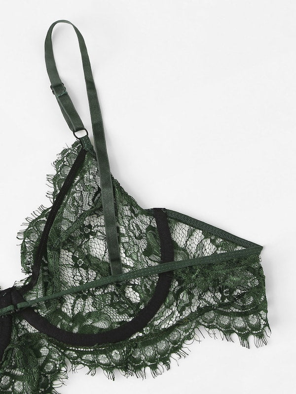 Plus Size Lace Lingerie Set