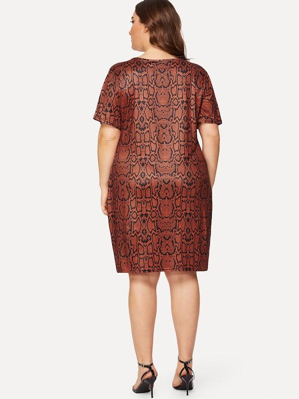 Plus Size Snakeskin Print Dress
