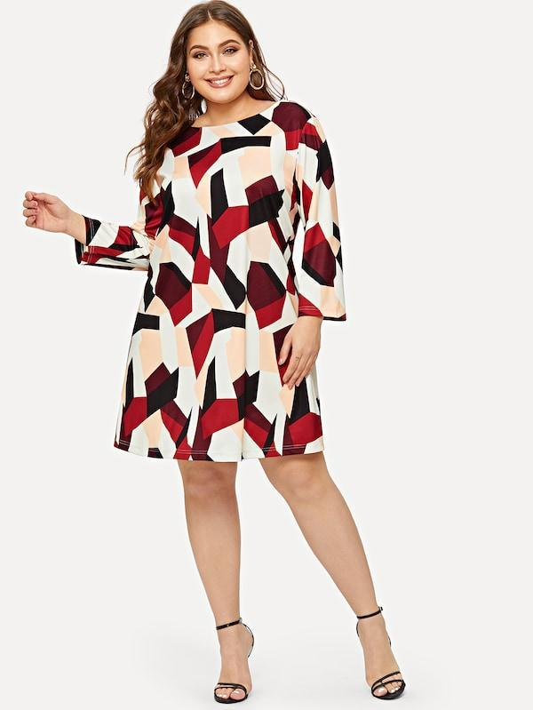 Plus Size Geo Print Dress