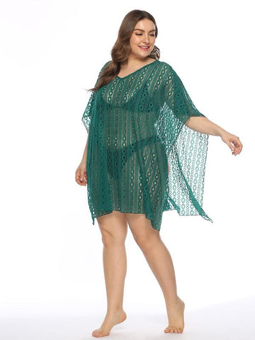 Plus Size Circle Lace Cover Up
