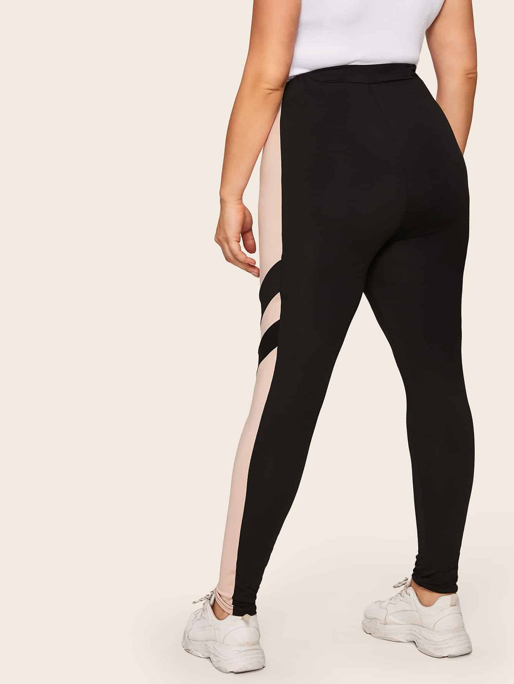 Plus Size Cut And Sew Panel Leggings