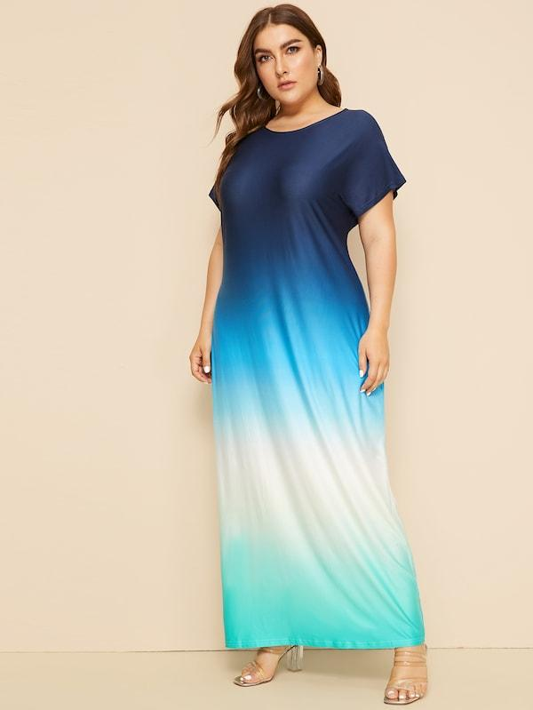 Plus Size Tie Dye Tee Dress