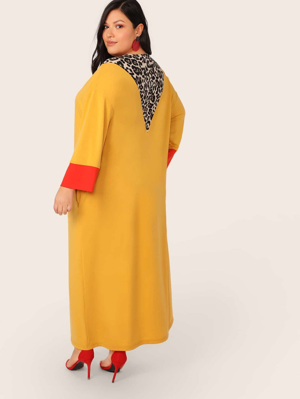 Plus Size Trendsetter Leopard Print Pocket Maxi Dress