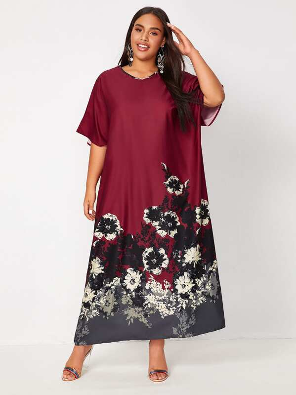 Plus Size Floral Tunic Dress