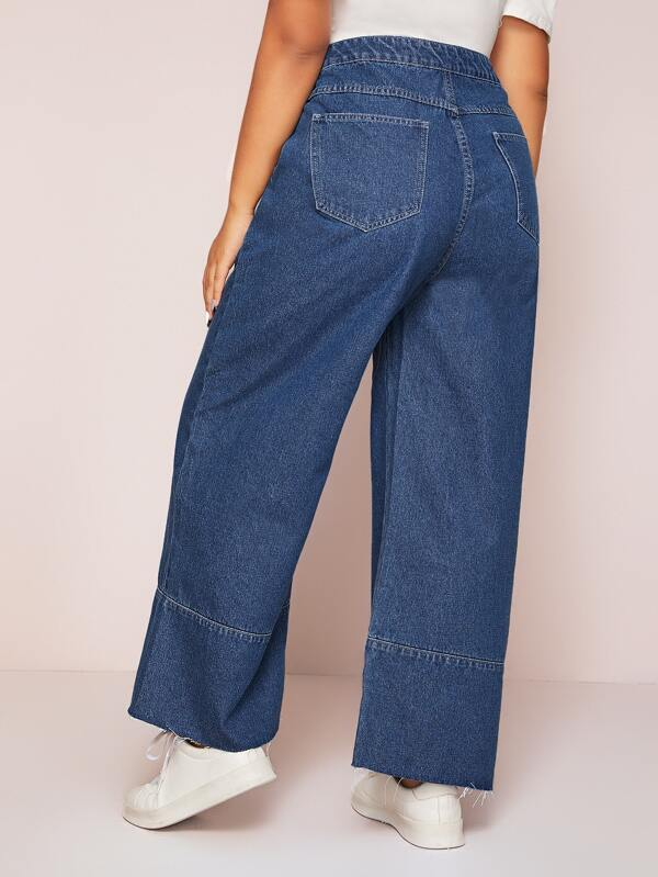 Plus Size High Waist Wide Leg Jeans