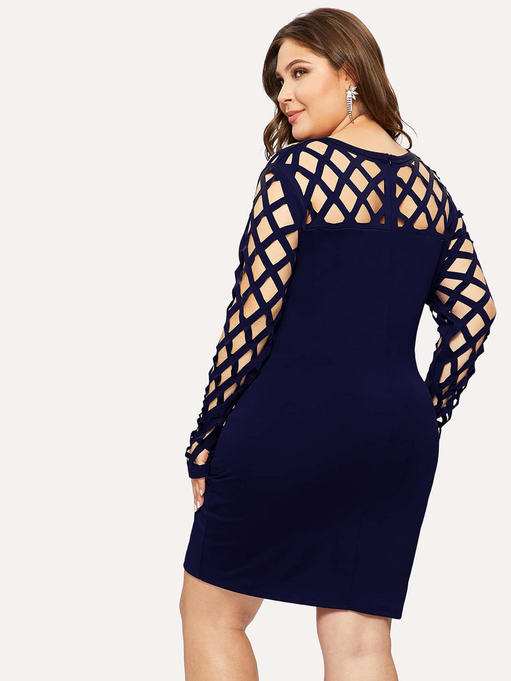 Plus Size Cut Out Fitted Dress