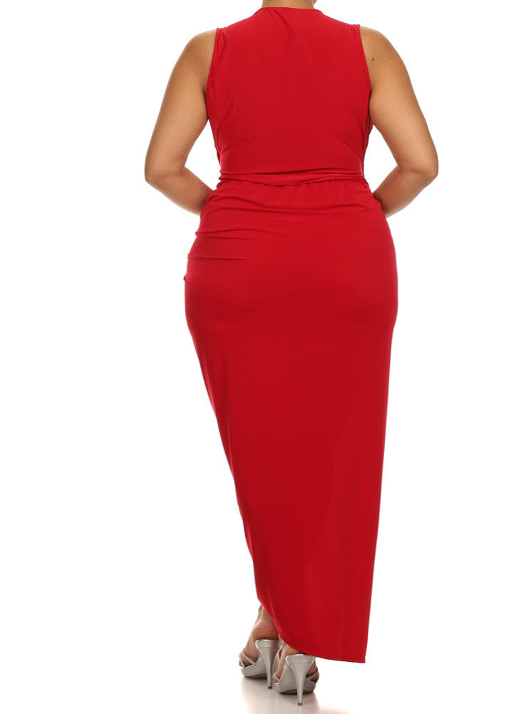 Plus Size Night To Remember Red Maxi Dress