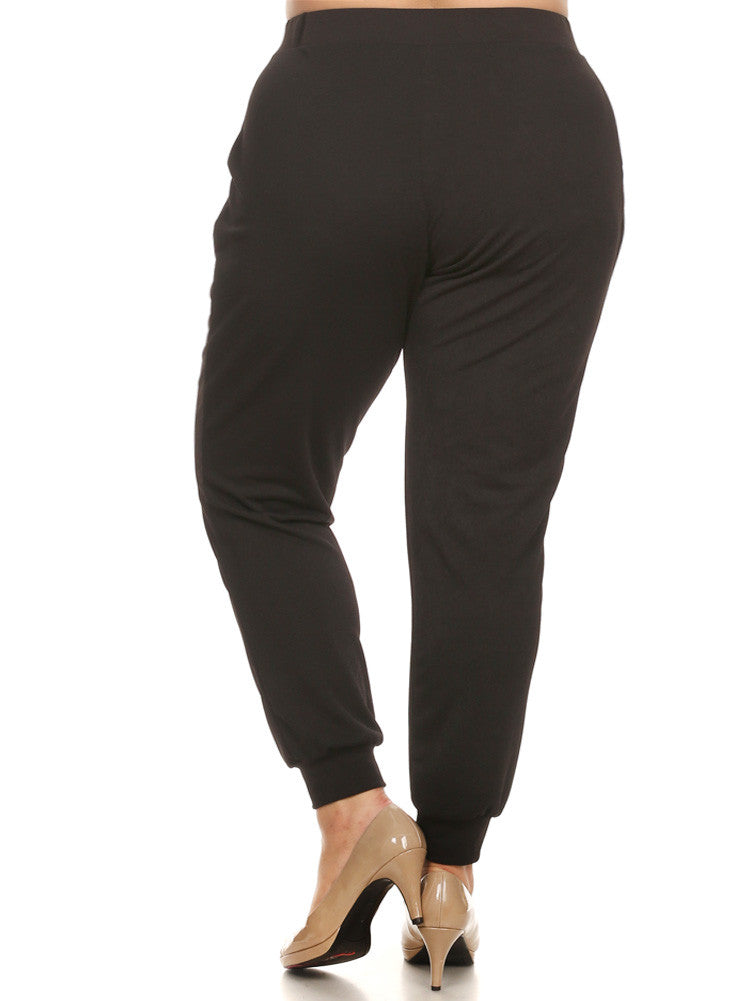 Plus Size Everyday Jogger Black Chic Pants