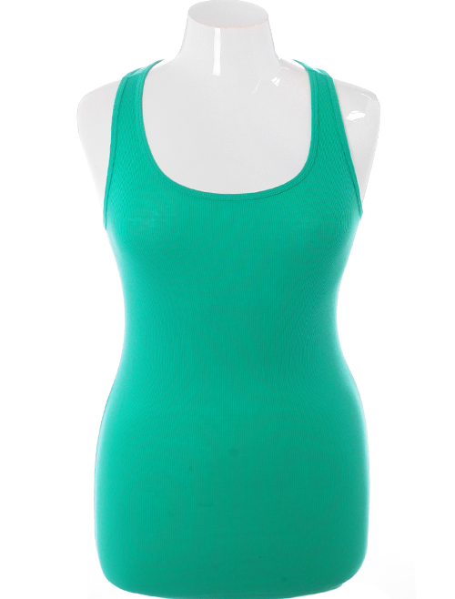 Plus Size Classic Spring Green Tank Top