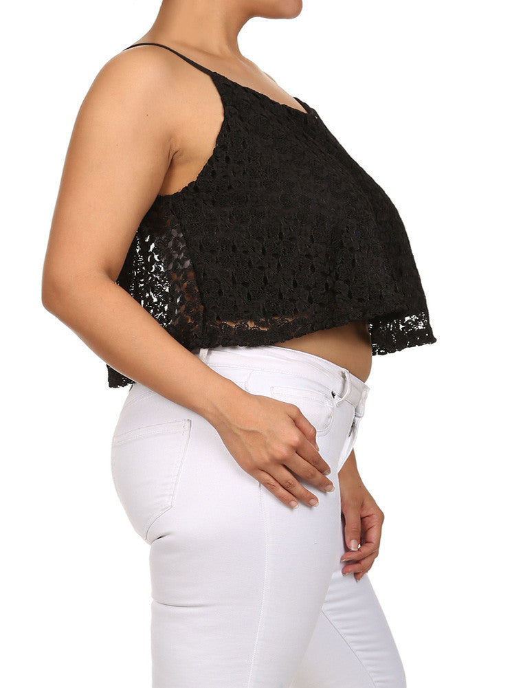 Plus Size All My Love Crochet Tank