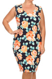 Plus Size Garden Love Rose Dress