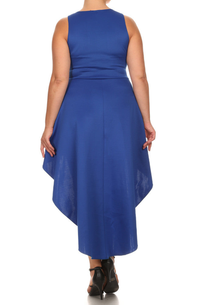 Plus Size High Mod Dip Hem Maxi Dress