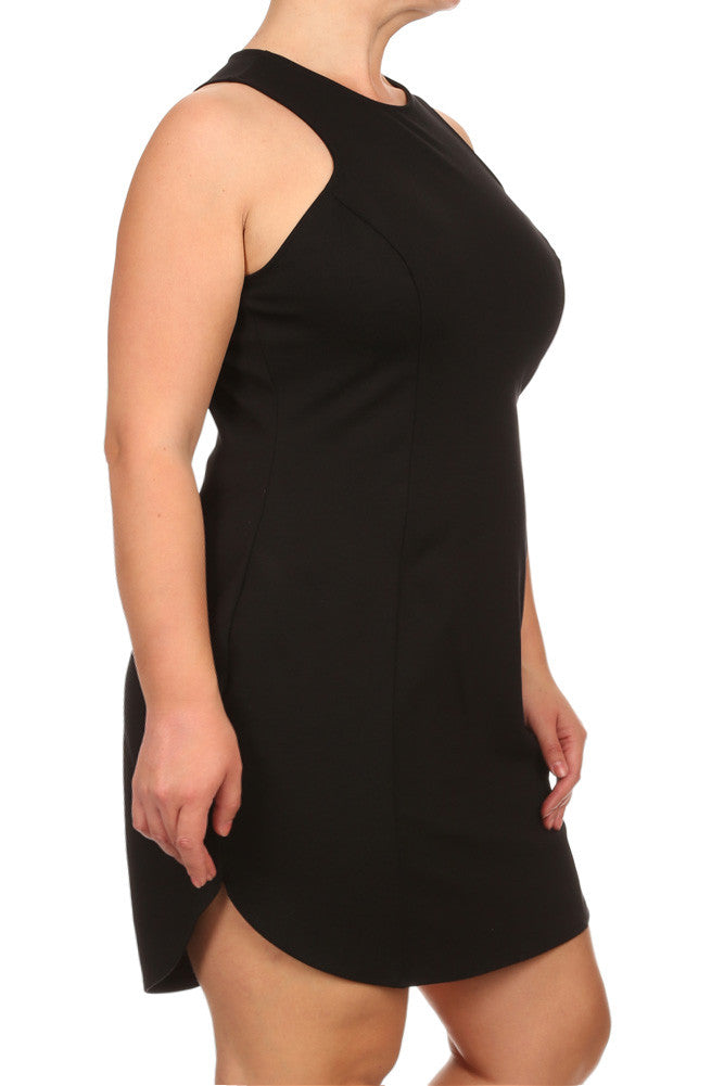 Plus Size Laguna Beach Cutaway Neckline Dress