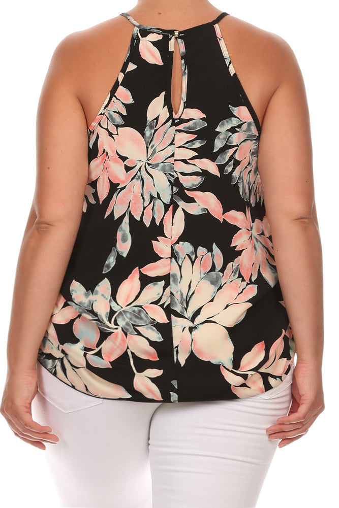 Carnation Love Ruched Sexy Plus Size Top