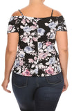 Rose Party Off The Shoulder Plus Size Top