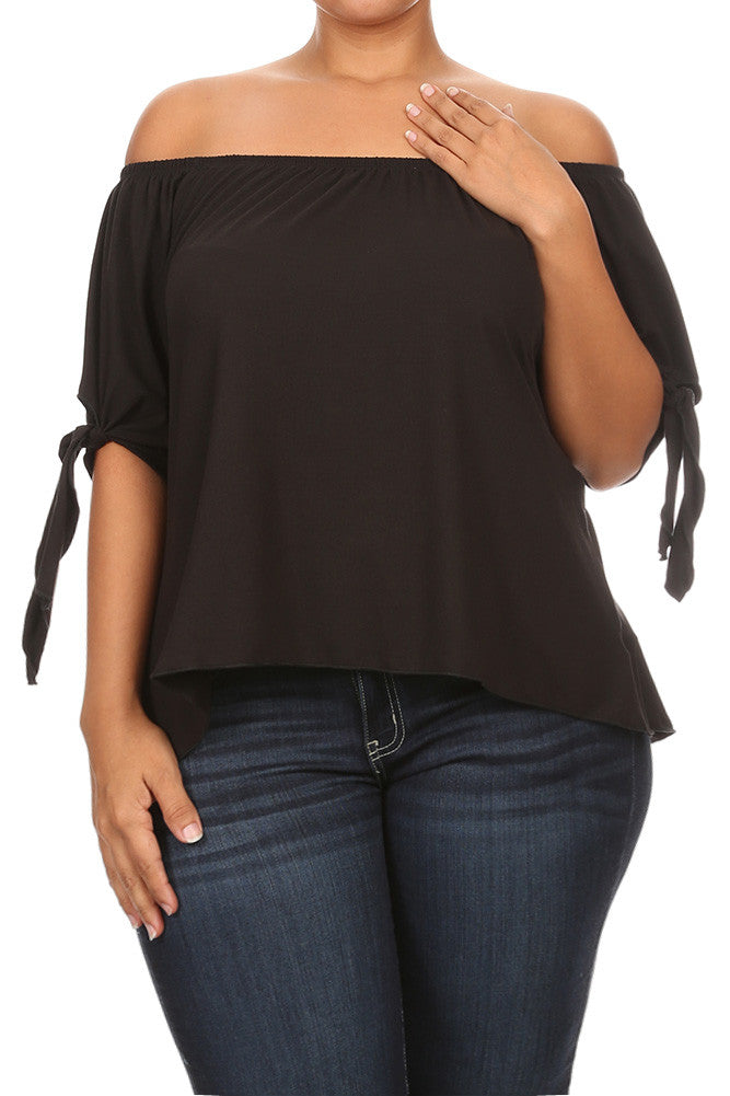Graceful Off The Shoulder Plus Size Top