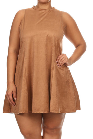 Suede Moves Plus Size Shift Dress