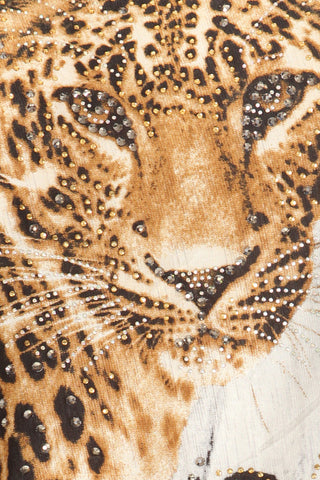 Detailed Bedazzled Sparkling Lioness Top