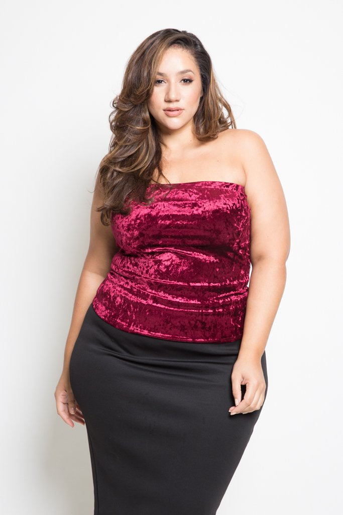 eb355955801 Plus Size Velvet Tube Top – Plussizefix