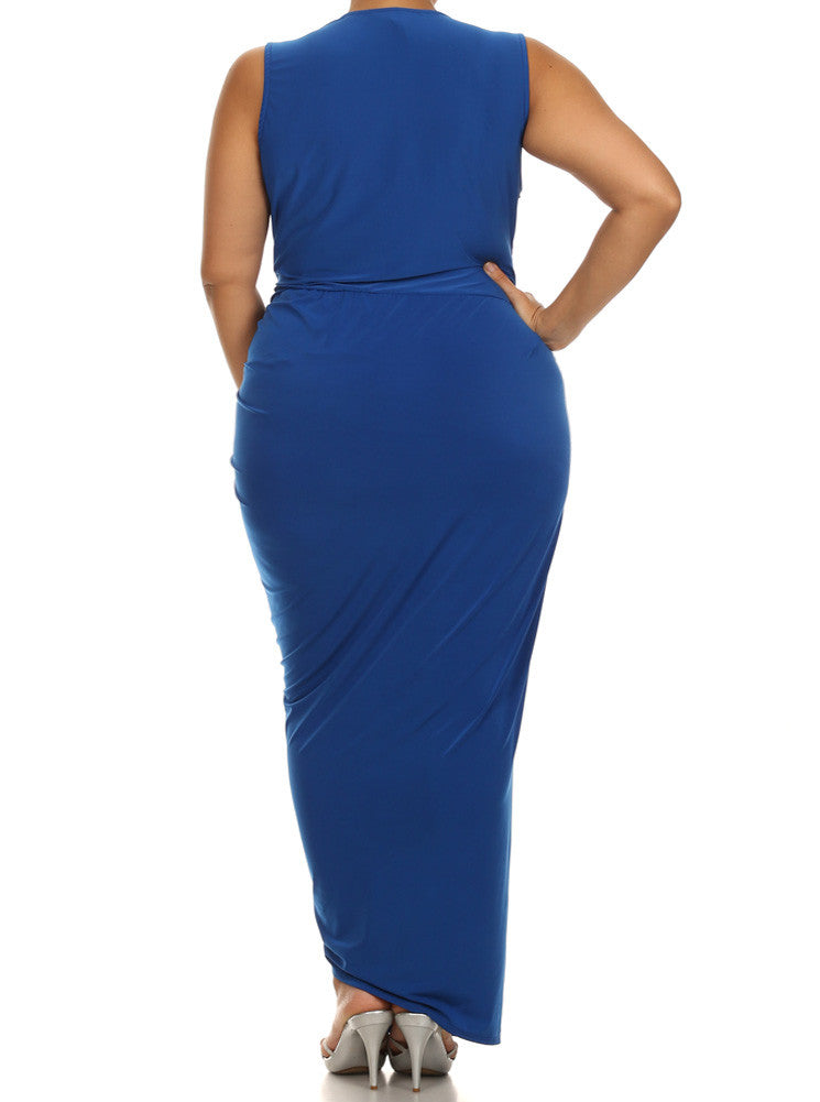 Plus Size Night To Remember Blue Maxi Dress
