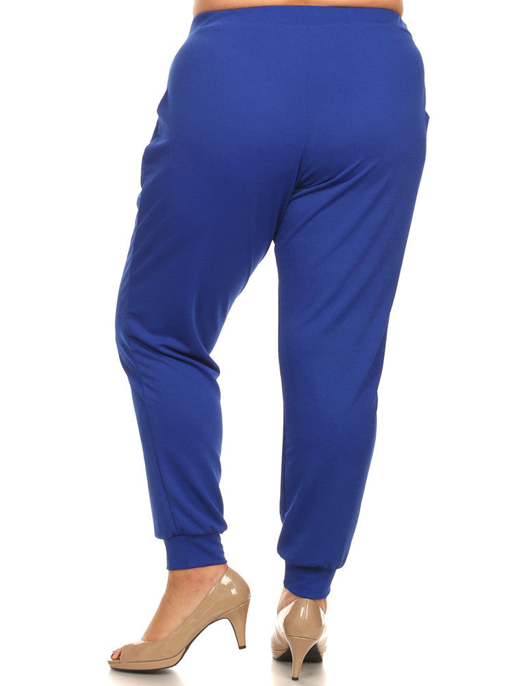 Plus Size Everyday Jogger Blue Chic Pants