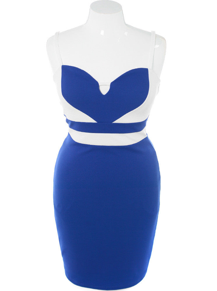 Plus Size All My Heart Blue Dress