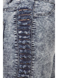 Plus Size Vintage 80's Slashed Sides Acid Wash Jeans