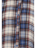 Plus Size After Party Plaid Blue Boxy Top
