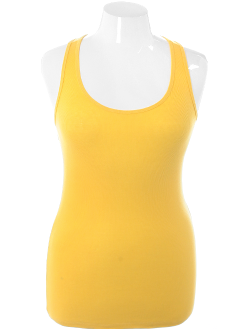 Plus Size Classic Spring Yellow Tank Top