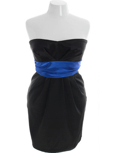 Plus Size Diva Sexy Blue Tube Event Dress