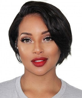 Short Bob Wig 150% Density Pixie Wig With Baby Hair