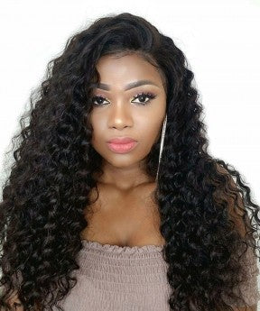 Deep Wave 360 Lace Frontal Wig Pre Plucked With Baby Hair