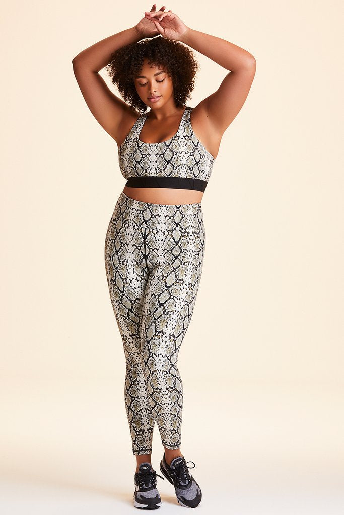 Plus Size Captain Ankle Tight styled with Eclipse Bra in Snake