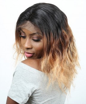 Body Wave Lace Front Wigs #1B/4/27 Ombre Color 250% Denstiy