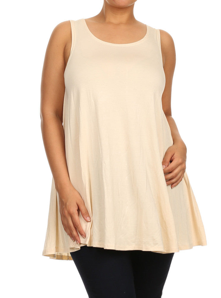 Plus Size Let's Go Out Beige Top