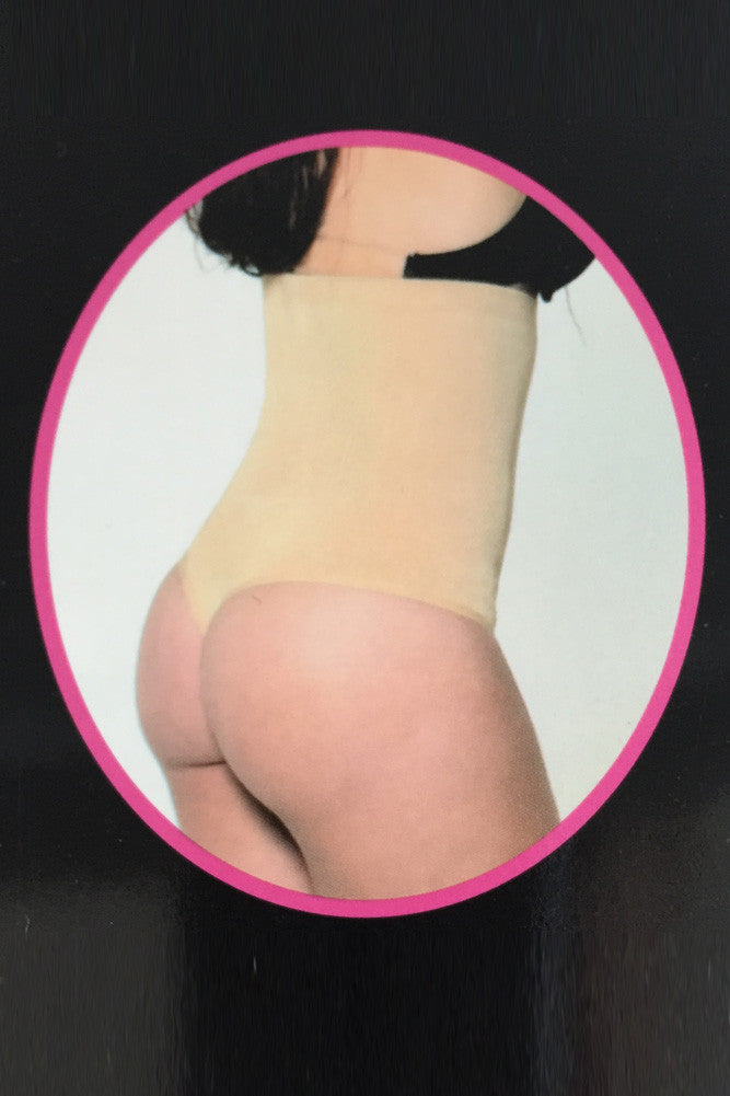 Plus Size Shapewear High Waist Thong Full Firm Control