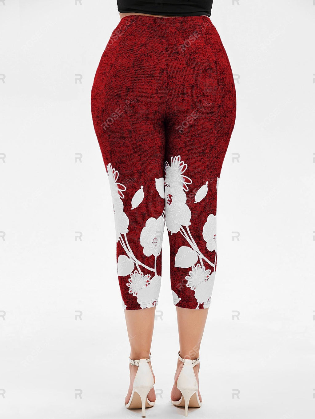 Plus Size Space Dye Capri Leggings