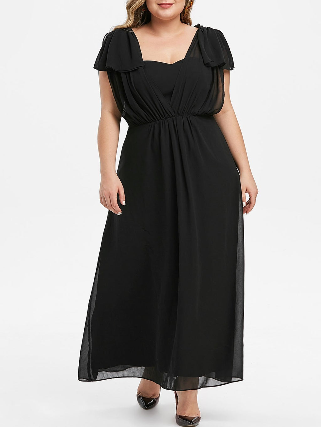Plus Size Maxi Prom Dress