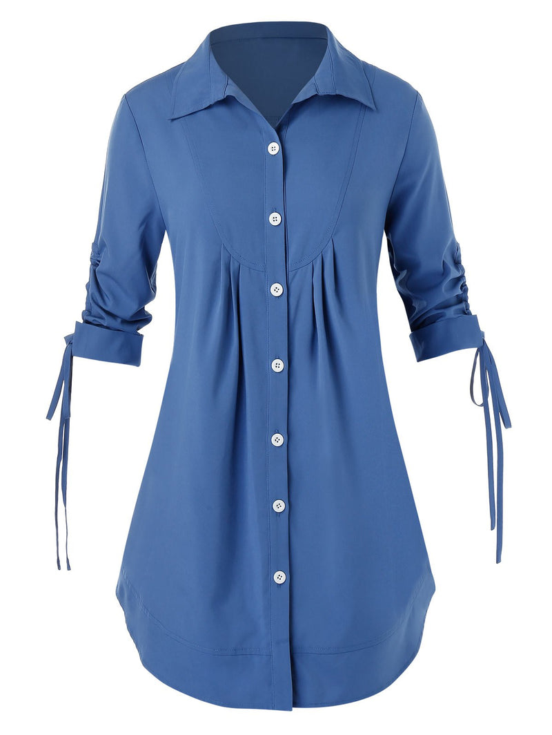 Plus Size Button Up Shirt Top