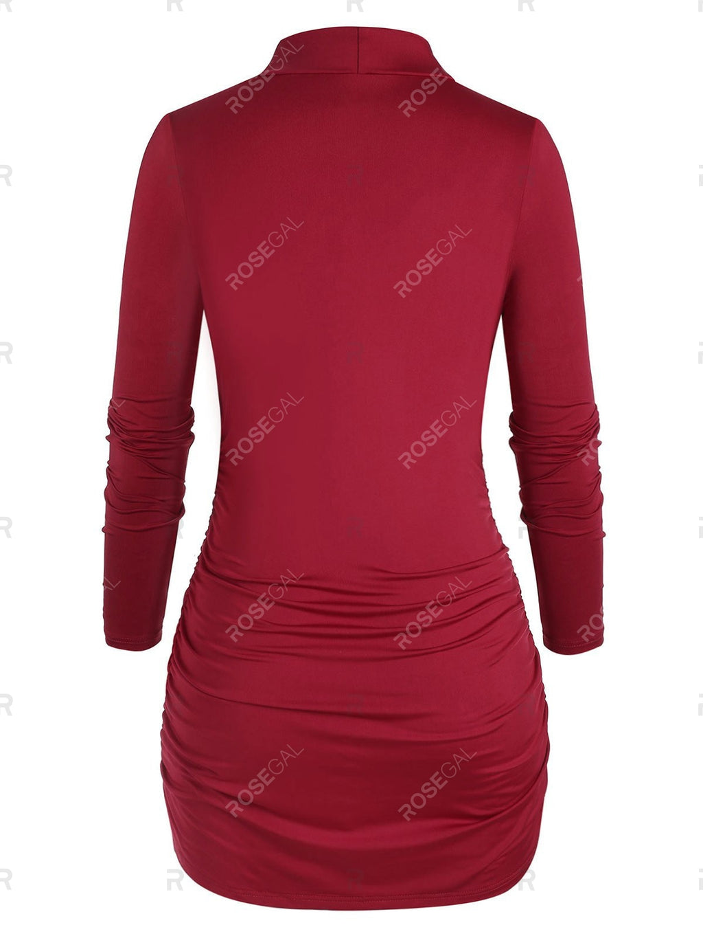 Plus Size Front Cowl Bodycon Mini Dress