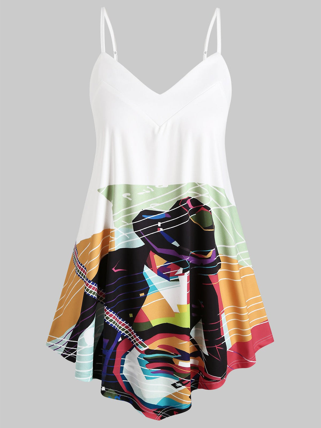 Plus Size Art Print Cami Top