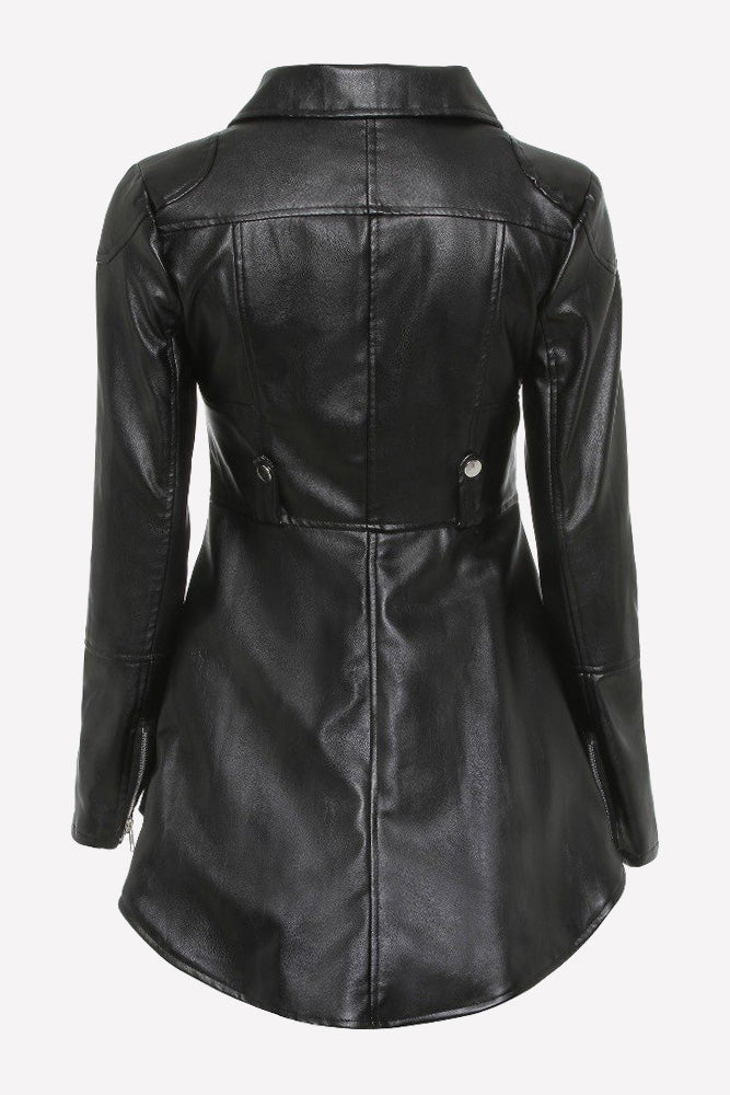 Plus Size Moto Top Diva Faux Leather Jacket