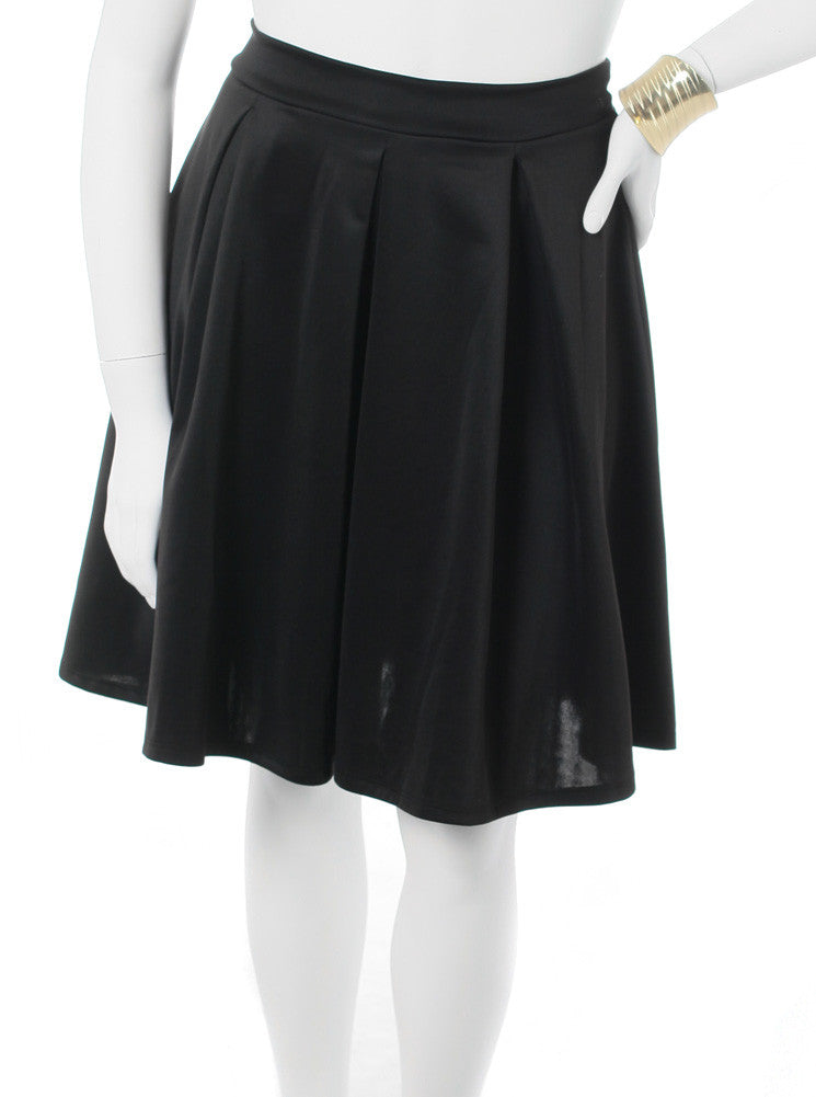 ecc9db404068d Plus Size Classic Pleat Black Skirt – Plussizefix