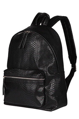 Gator Skin Fierce Bae Leather Backpack Black